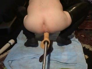 Hard anal machine fucking