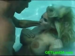Under water pool fucking