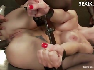 sexix.net - 13993-boundgangbangs samantha sin sexy blonde prison warden with big tits gets gangbanged by horny inmates 06 07 2011 720p