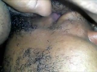 Black amateur couple closeup oral sex