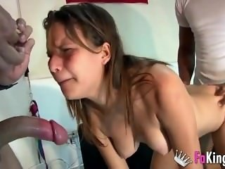 Spanish crying anal pain