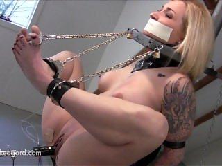 Tape Gagged bondage & Dildo Fucked