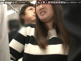 cute japanese schoolgirl seduced by geek in bus 21