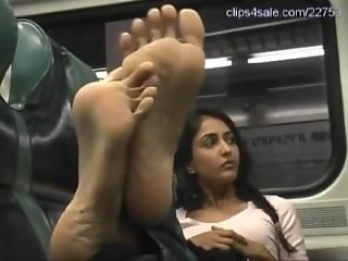 The Soles Experience - Prya Feet Tickled In The Train