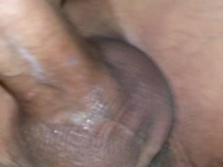 cumming on my huge cock