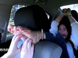 Crazy tickling in the car