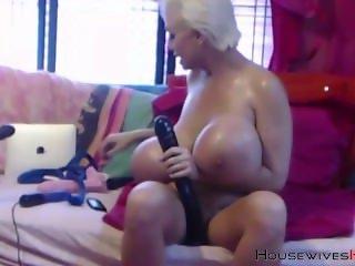 Blond Pornstar MILF Claudia Marie huge tits bouncing
