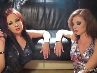 Abbie and Anissa Smoking