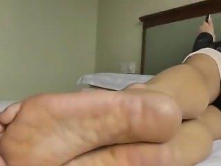 Asian Feet on the Phone
