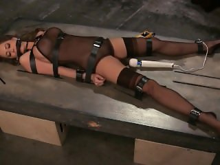 Emily Addison table bound orgasm