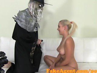 FakeAgent Evil Wizard fucks innocent blonde in Halloween Special