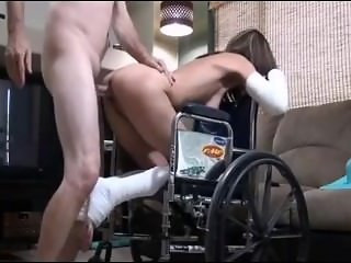 Horny Son Fucks Not Real Mother From SEXDATEMILF.COM in Wheelchair