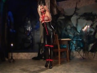Lena Larson Tied Up in Leather