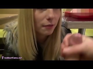 Real Amateur Girlfriend POV Rough Deepthroat In Public McDonalds Restaurant