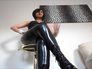 Latex leggings humiliation
