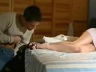 guy get caught masturbating on sleeping girl feet