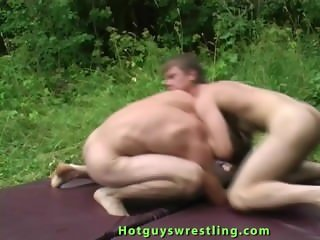 Sports guys naked wrestling and jerk off