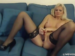 English 44 sophisticated ma with sexy lingerie and heels