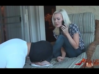 Foot Domination - Blonde
