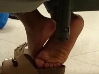 Candid Wrinkled Ebony Soles in Class