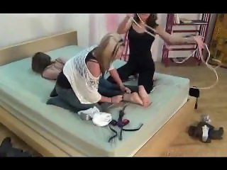 3 girls fun tape gagged