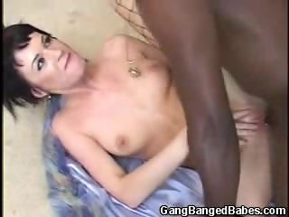 Interracial Gangbanged Vixen