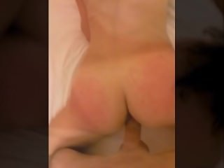 Tattooed slut sucks, gets fucked, and swallows cum.