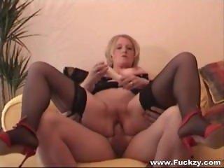 Horny Mature Slut Gets Cum On Her Ass