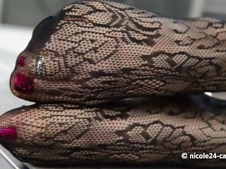stockings feet fetish blowjob milf