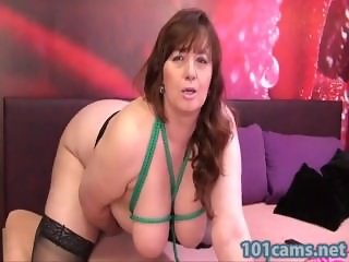 mature free online  Tits bondage and a sexy dildo play
