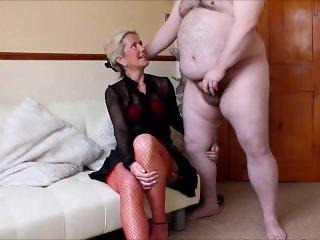 Real amateur cfnm - hot milf Ammy makes a guy strip & wank