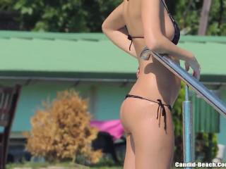 Sexy Bikini Hot Girls From SEXDATEMILF.COM Tanning At the pool