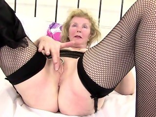 Kinky granny with old pierced thirsty vagina From SEXDATEMILF.COM