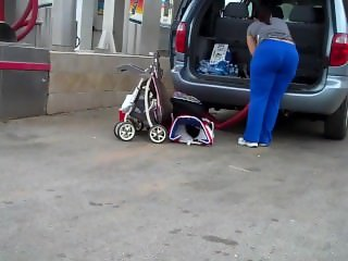 Soccer Mom From SEEKBBW.NET Huge Ass VPL Car Wash Candid wOw