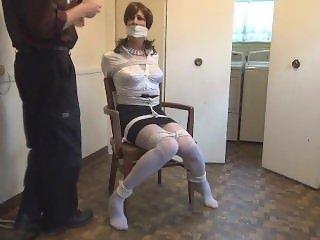 Sandra, real estate lady tied