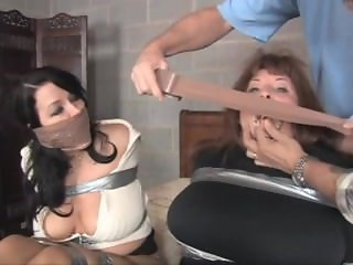 Mother and daughter hogtaped in the basement.