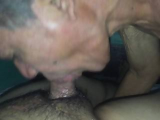 Kissing and sucking grandpa