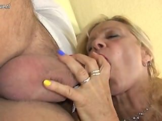 German Granny FROM SEXDATEMILF.COM Fucking and Sucking Young Guy