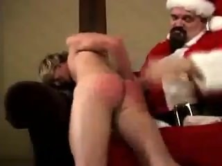 Tommy Anders spanked by santa