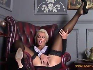 Horny Blonde MILF at SEXDATEMILF.COM Finger Fucks Tight Moist Pussy in.