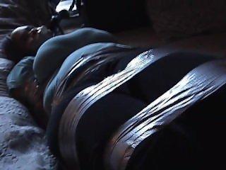 ebony synn tape bound and gagged