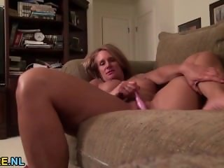 Mature next door undressing and masturbating