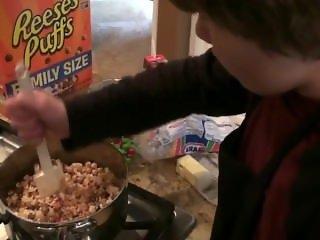 Busty Teen Teaches You How To Cook Rice Krispy Treats
