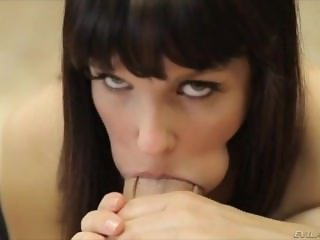 Bobbi Starr swallows cock and balls together in extreme hot deepthroat