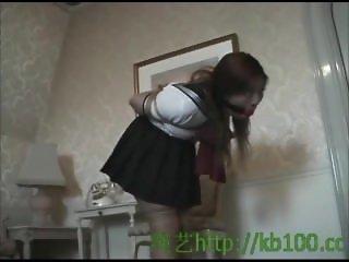 Alisa Todo in schoolgirl outfit bondage 001