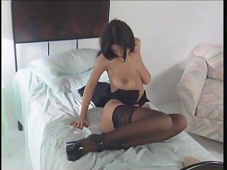 Amazing Veronica Zemanova in black lingerie