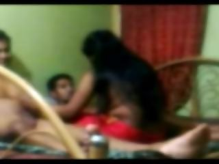 Desi friends fucking a girl threesome