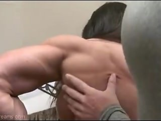 Angela Salvagno sexy naked with another muscle girl