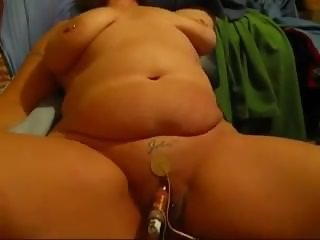 Bbw wife with huge clit pumped and electro stimulated