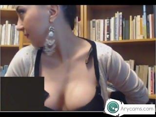 Girl masturbates in library SCANDAL